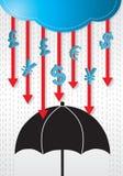 Money Rains Drop Conceptual. Royalty Free Stock Photo