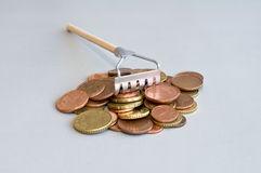 Money rake Stock Photos