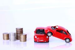 Money and red car Royalty Free Stock Photography