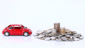 Money and red car Stock Photos