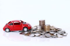 Money and red car Stock Photography