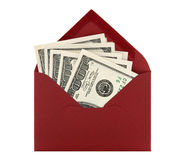 Money in a red envelope Stock Photo
