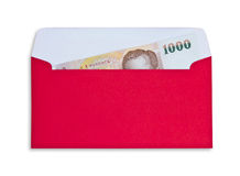 Money in red envelope Stock Images