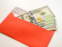 Money in red envelope Royalty Free Stock Images