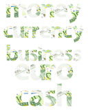 Money Related Words Abstract Isolated. On White Made Of Euro Currency Royalty Free Stock Image