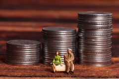 Money and relations. Concept shot of money requirement for healthy relations stock images