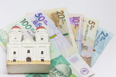 Money and religion. Conceptual image about money and religion Stock Images