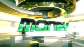 MONEY Report Graphic Animation (HD) stock video footage