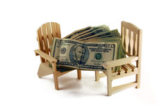 Money for retirement Royalty Free Stock Photo