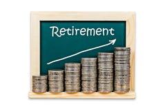 Money with retirement plan. Stock Image