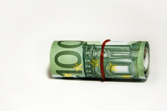 Money in a roll Royalty Free Stock Photography