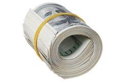 Money roll. Roll of bills, roll of dollar bills Royalty Free Stock Photo