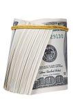 Money roll. Roll of bills, roll of dollar bills Stock Photography