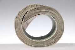 Money roll. Roll of bills, roll of dollar bills Stock Images