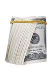 Money roll. Roll of bills, roll of dollar bills Royalty Free Stock Images
