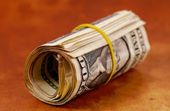 Money Roll2. Money ina Roll.  See Portfolio For Similar Concepts Royalty Free Stock Photography