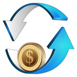 Money rolling investment Royalty Free Stock Photo
