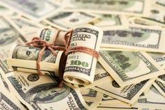 Money in rolls. Royalty Free Stock Photos