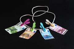 Money on the Rope Royalty Free Stock Images