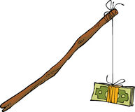 Money on a rope Stock Photography