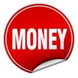 Money sticker. Money round sticker isolated on wite background. money royalty free illustration