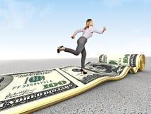 Money run Stock Photography