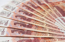 Money Russian banknotes Royalty Free Stock Photo