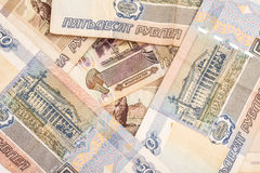 Money Russian banknotes background Stock Photography