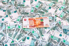 Money and Russian banknotes Royalty Free Stock Photo