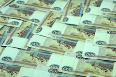 Money Russian banknotes dignity thousand, five hundred rubles background . Money Russian banknotes dignity thousand, five hundred rubles background stock photography