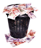 Money Russian rouble. Currency collapse. Stock Photography