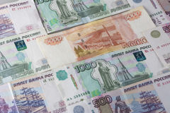 Money - Russian Ruble. Paper money - Russian rubles, for background Royalty Free Stock Photo