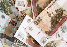 Money. Russian rubles. Royalty Free Stock Photography