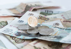 Money. Russian rubles Stock Image