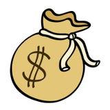 Money sack illustration. Money sack with dollar sign illustration Stock Photography