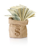 Money in the sack Stock Photos