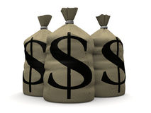 Money sacks Royalty Free Stock Images