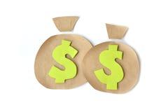 Money sacks icon - paper art. () Stock Photography