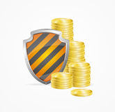Money Safety Concept. Vector Royalty Free Stock Photos
