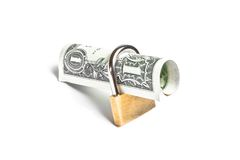 Money for safety and investment Royalty Free Stock Image