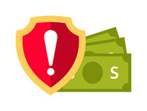 Money safety vector illustration. Money safety vector. Money safety illustration. Money safety isolated on white. Money safety icon. Money safety flat style Stock Photo