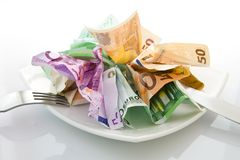 Money Salad Royalty Free Stock Images