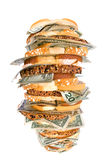 Money sandwich Royalty Free Stock Images