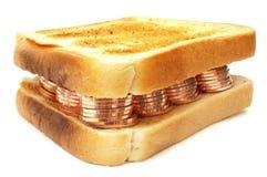 Money sandwich Royalty Free Stock Photos