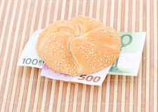 Money sandwich Stock Photography