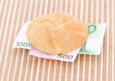 Money sandwich stock photography