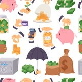 Money save vector symbols capital monetary investment concept finance icons banking safety formation invest loan Stock Photos
