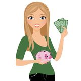 Money Saver Woman Stock Photography