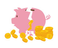 Money saving and business Royalty Free Stock Image