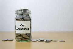Money saving for car Insurance Royalty Free Stock Photography